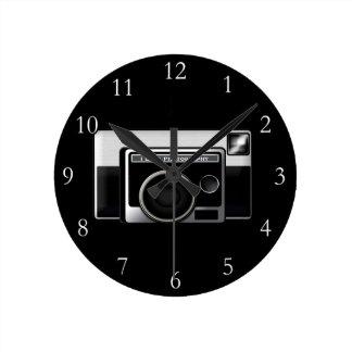Retro Film Camera Round Wallclock