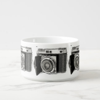 Retro Film Camera Photography Drawing Sketch Bowl