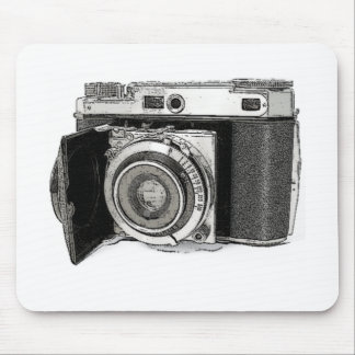 Retro Film Camera Photography Drawing Sketch Mouse Pad