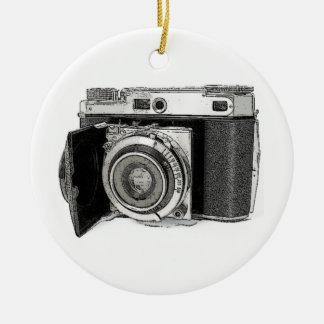 Retro Film Camera Photography Drawing Sketch Christmas Ornaments