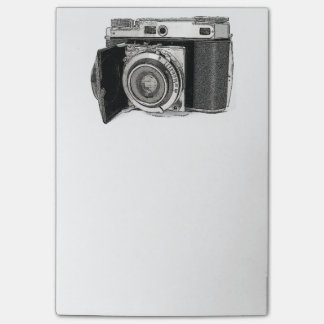 Retro Film Camera Photography Drawing Sketch Post-it® Notes