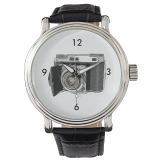 Retro Film Camera Photography Drawing Sketch Wrist Watch