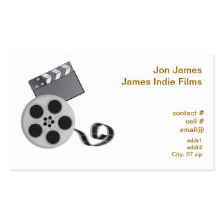 Retro film producer Double-Sided standard business cards (Pack of 100)