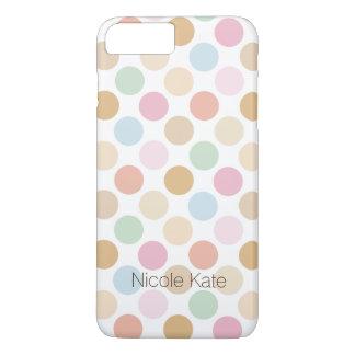 retro fine pastel color polka dots iPhone 8 plus/7 plus case