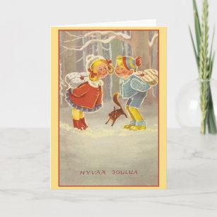 Retro finnish christmas cards zazzle retro finnish hyv joulua christmas card m4hsunfo