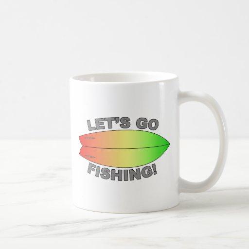 Retro Fish Surfboard Design Coffee Mug