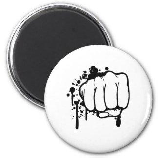Retro Fist 2 Inch Round Magnet