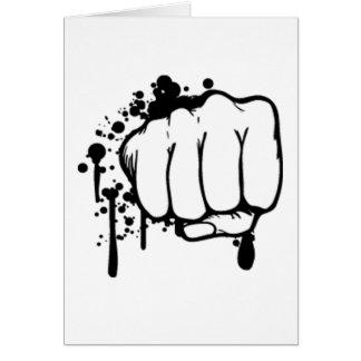 Retro Fist Greeting Card