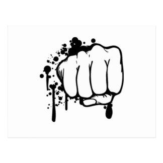Retro Fist Postcard