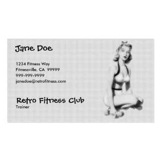 Retro Fitness B/W Business Card Templates