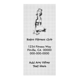 Retro Fitness B/W Rack Card