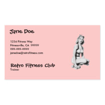 Retro Fitness Business Card Template
