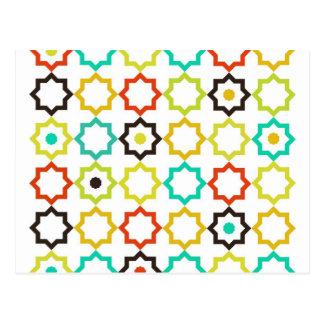 Retro Five Point Star Design Postcard