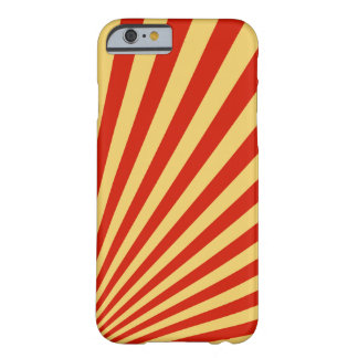 Retro Flame Sun Rays Background Barely There iPhone 6 Case