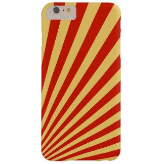 Retro Flame Sun Rays Background Barely There iPhone 6 Plus Case