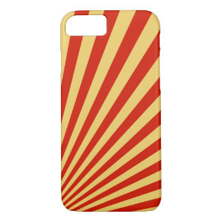Retro Flame Sun Rays Background iPhone 8/7 Case