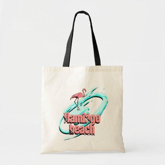 RETRO Flamingo Beach Tote Shopping Travel bag