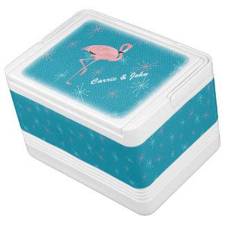 Retro Flamingo Custom Igloo Can Cooler