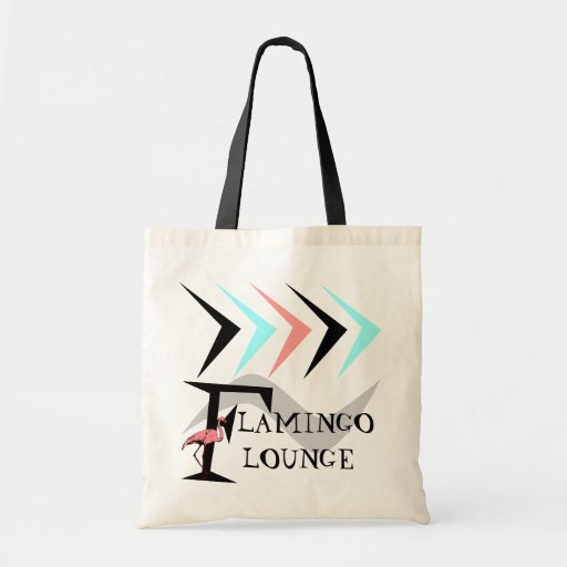 RETRO Flamingo Lounge Tote Shopping Travel bag