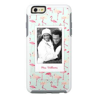 Retro Flamingo Pattern | Add Your Photo & Name OtterBox iPhone 6/6s Plus Case