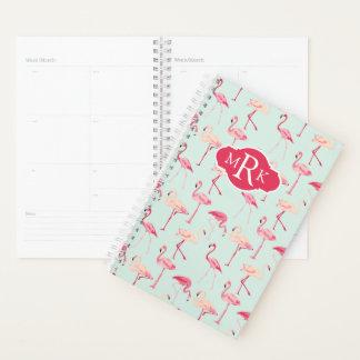 Retro Flamingo Pattern | Monogram Planner