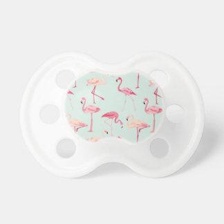 Retro Flamingo Pattern Pacifier