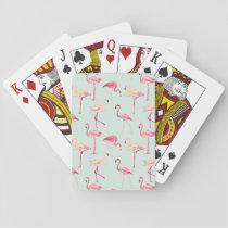 Retro Flamingo Pattern Playing Cards
