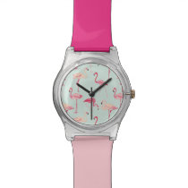 Retro Flamingo Pattern Watch