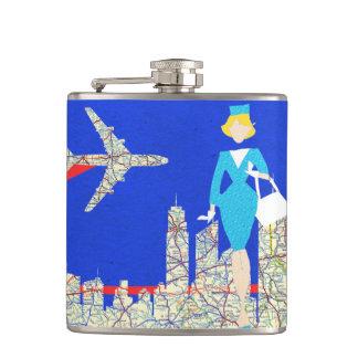 Retro Flight Attendant Flask