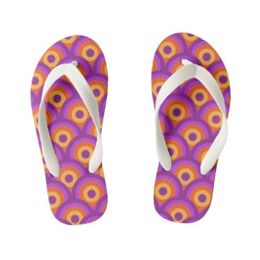 Beach Themed Retro Flip Flops
