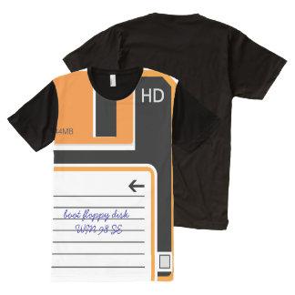 Retro Floppy Disc Drive All-Over Print T-shirt