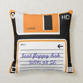 Retro Floppy Disc Drive Pillow