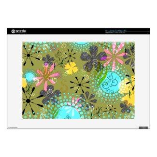 Retro Floral 1 Laptop Skin musicskins_skin