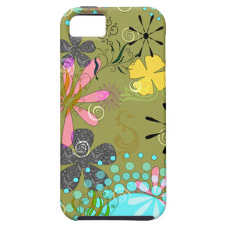 Retro Floral 1 Tough iPhone 5 Covers