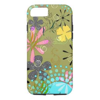 Retro Floral 1 Tough iPhone 7 case Covers