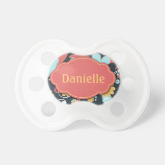 Retro Floral - Add a name - Pacifier