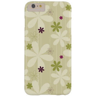 Retro Floral Background Barely There iPhone 6 Plus Case