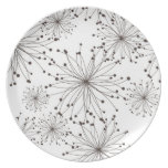 Retro floral background plate