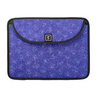 Retro Floral Blue Macbook Pro Flap Sleeve Sleeves For MacBooks