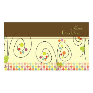 Retro floral bouquet/polka dots/DIY background Business Card