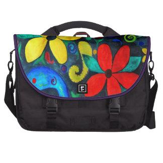 Retro Floral Burst Laptop Bags