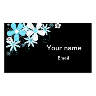 Retro Floral Business Cards Template