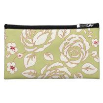 Retro_Floral(c) Fabric_Sueded_Bag Makeup Bag