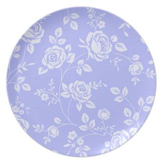 Retro-Floral (c) Lavender_White_ Plate