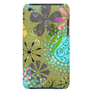 Retro Floral Case-Mate Barely There™ iPod Touch Ca iPod Touch Case