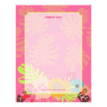 Retro Floral, choose your fav background color Custom Letterhead