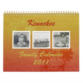 Retro Floral Custom Family Photo Calendar