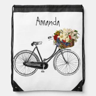 Retro floral de las señoras de la aventura del mochilas