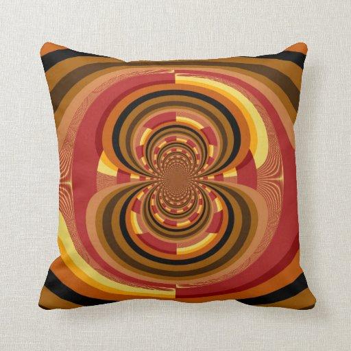 Retro Floral Decorative Art Throw Pillow