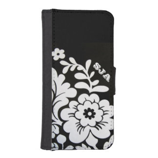 Retro Floral Design Phone Wallet